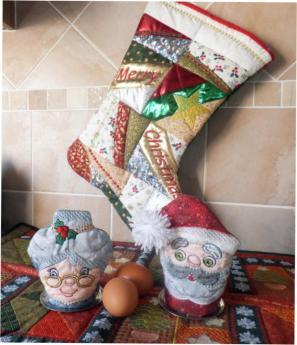 Mr & Mrs Santa Egg Cozies