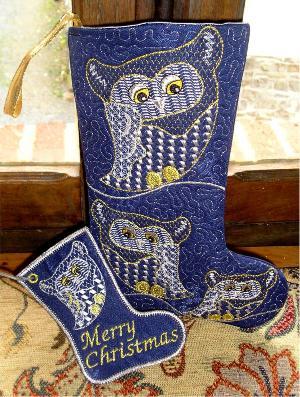 One Hooping Hooting Christmas Stocking