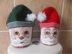 Santa Toilet Tissue Holders