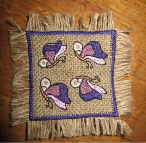 ITH Burlap (Hessian) Butterfly Coasters