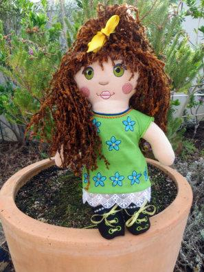 One Hooping Fabric Doll