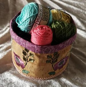 Round And Tall Cork Basket