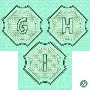 Splendid Embossed Monogram G H I