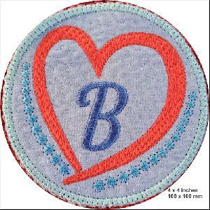 Charming Heart Coaster Alphabet