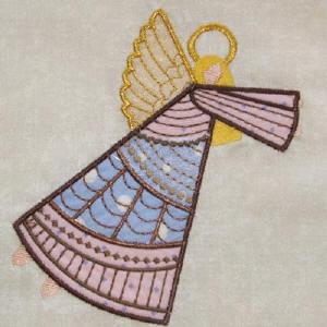Crazy Quilt Angels 1 Applique