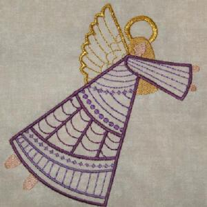 Crazy Quilt Angels 1 Color Work