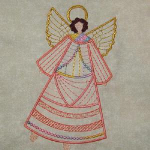 Crazy Quilt Angels 1 Color Work