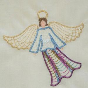 Crazy Quilt Angels 3 Color Work