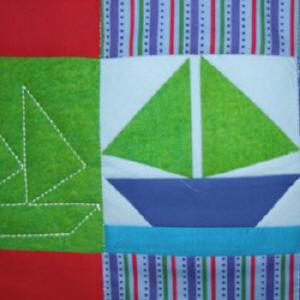Boat Quilt ITH Squares