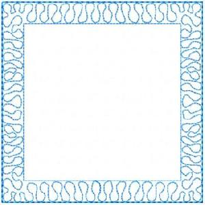 Stipple Outline Quilt Block