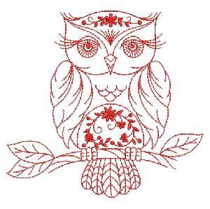 Redwork Owls 2