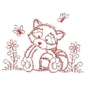 Redwork Forest Animals 2