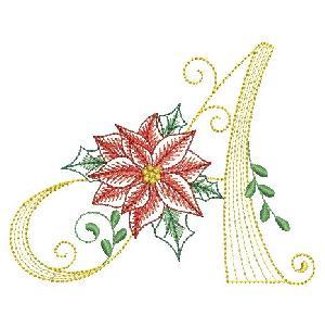 Christmas Poinsettia Alphabet