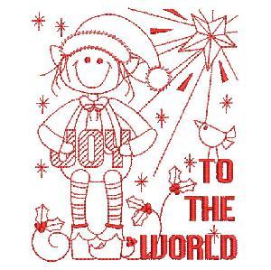 Redwork Joy To The World