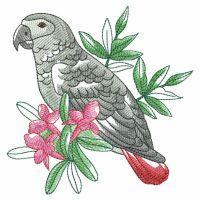 Watercolor Tropical Birds