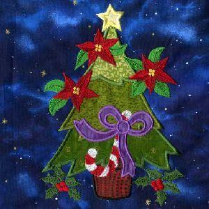 TT087 Christmas Trees Applique