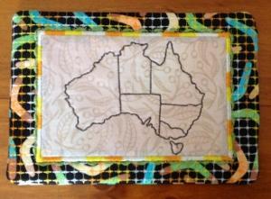 ITH Australia Mugrug and Table Mat