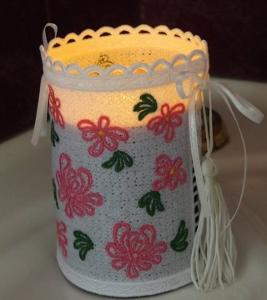 Free Standing Lace Candle Cover