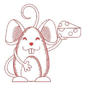 Redwork Mouse