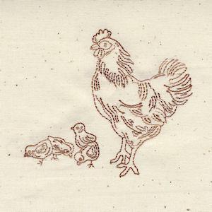 Bluework Chickens