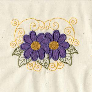 Scroll Applique Flowers