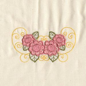 Scroll Applique Flowers