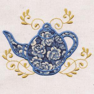 Antique Applique Teapots