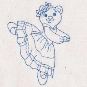Dancing Redwork Bears