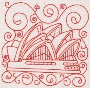 Australian Redwork Blocks