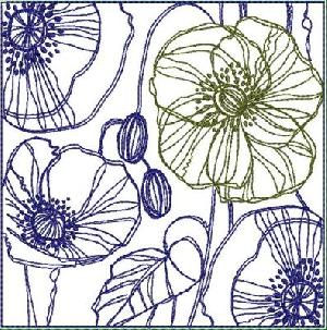 Flower Lines Quilt Blocks