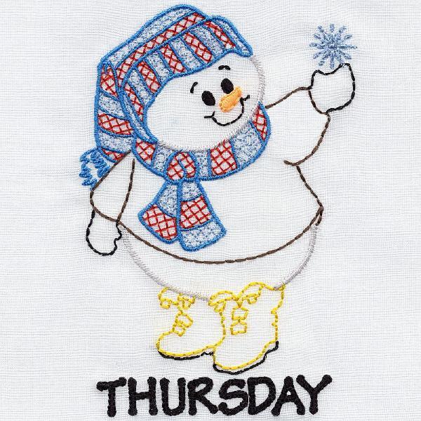 Snowmen For Tea Towels