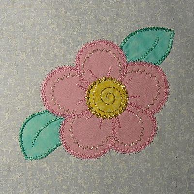 Quilted Floral Applique Runner