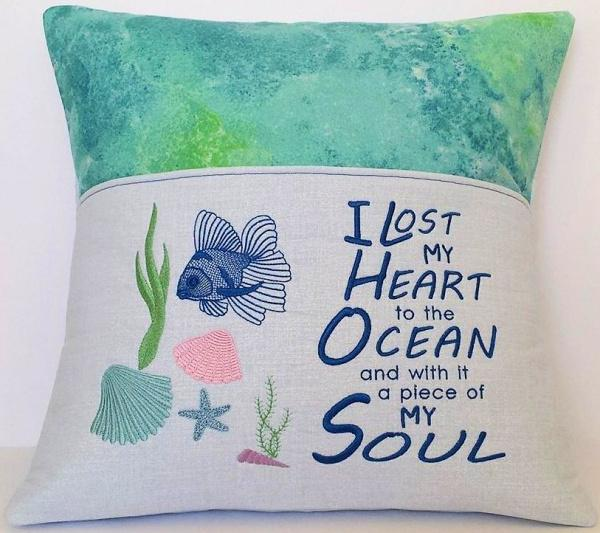 Ocean Reading Pillow 1
