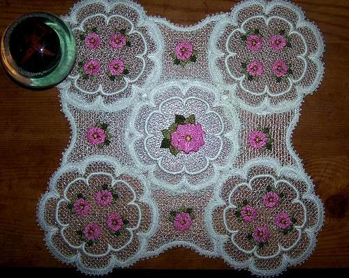 FSL Sunflower and Roses Doilies
