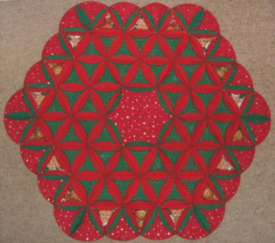 Cathedral Window Quilt Blocks Projects - Christmas Tree Skirt