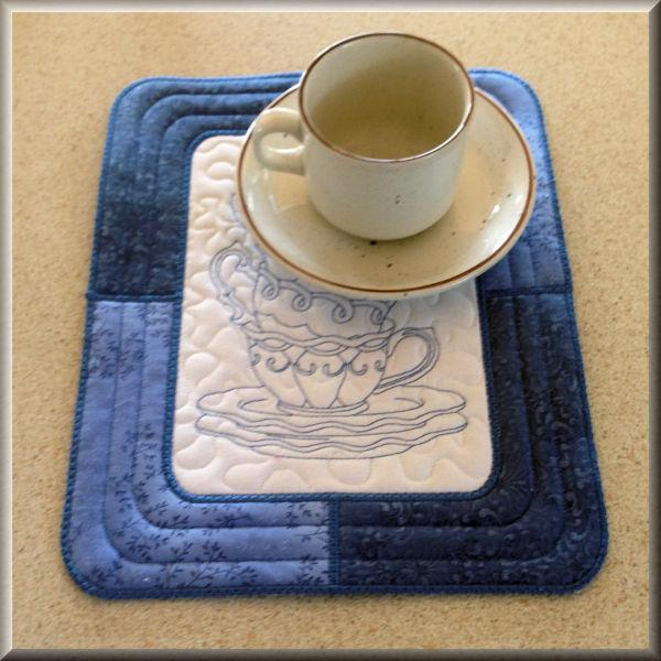 Tea Cup Placemat (In the Hoop)