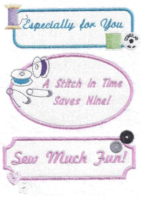 Sewing Labels Applique Collection