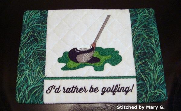 Golf Mug Rug