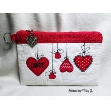 Heart Zippered Bag