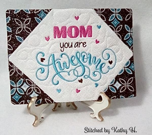 Awesome Mom Mug Rug