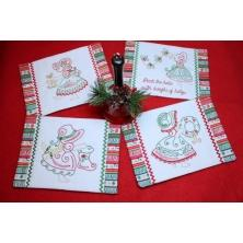 Christmas Bonnet Mug Rugs