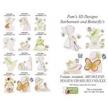 SUNBONNETS AND BUTTERFLIES