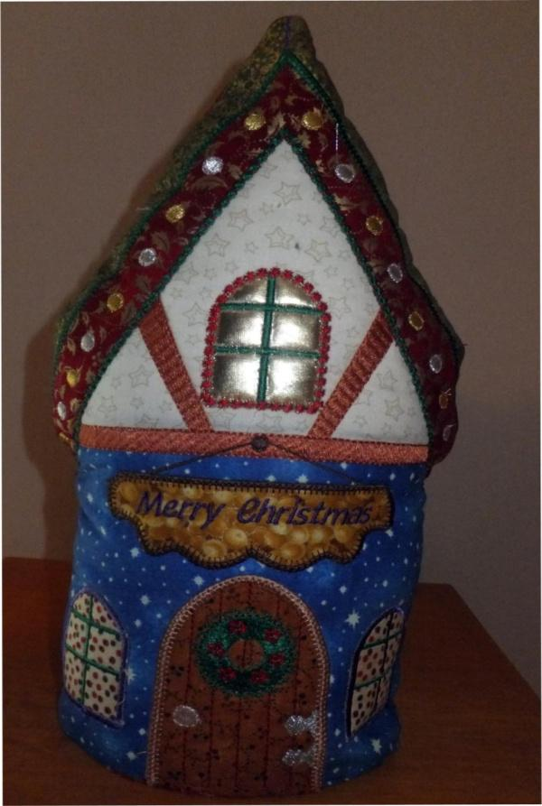 One Hooping Christmas Cottage Doorstop
