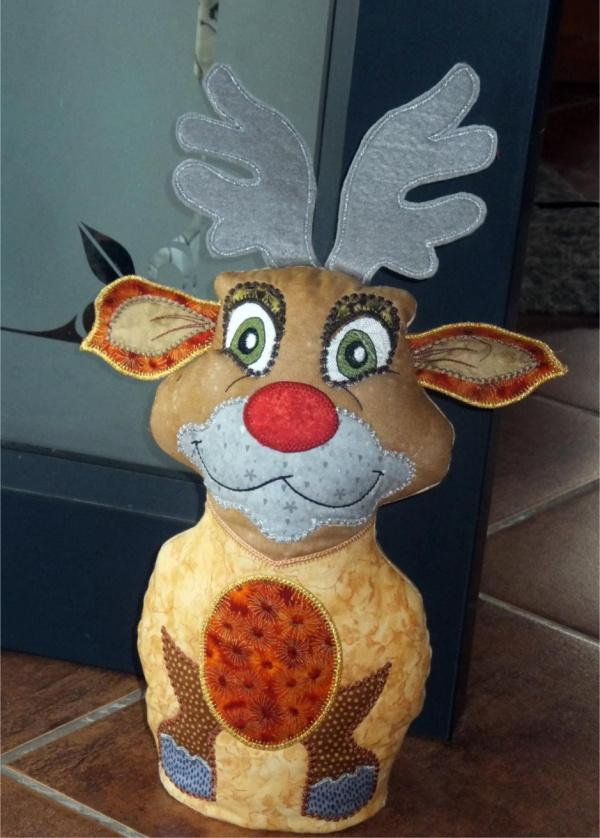 One Hooping Rudolph Door Stop