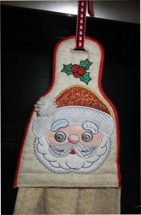 Mr and Mrs Claus Towel Toppers