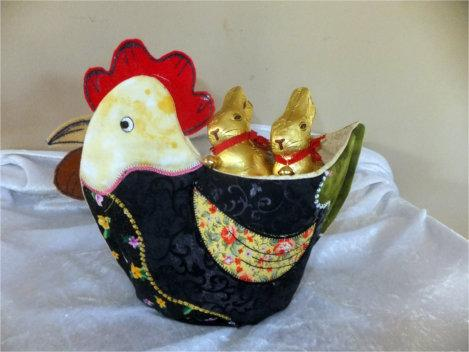 Patchwork Hen Basket