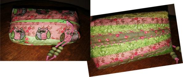 ITH Crazy Quilted Box Purses