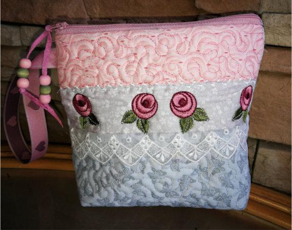 ITH Rose and Lace Cosmetic Purse