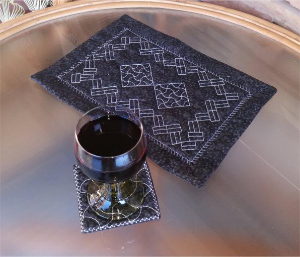 ITH Sashiko Placemat and Coaster Set