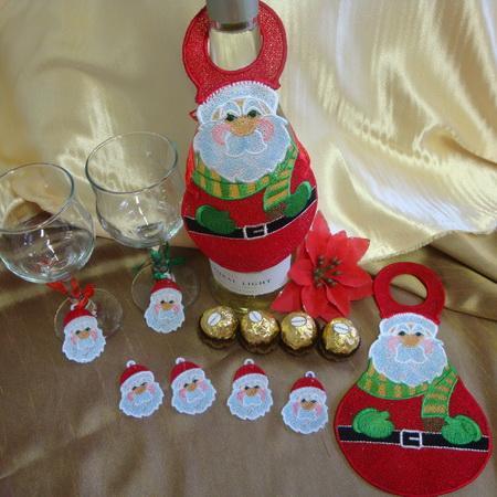 SD1055 Santa Bottle Apron